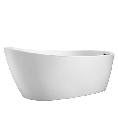 "Barclay Lorenzo ATSN60FIG-BN 60"" Premium Freestanding Acrylic Slipper Tub w Integral Drain/Overflow"