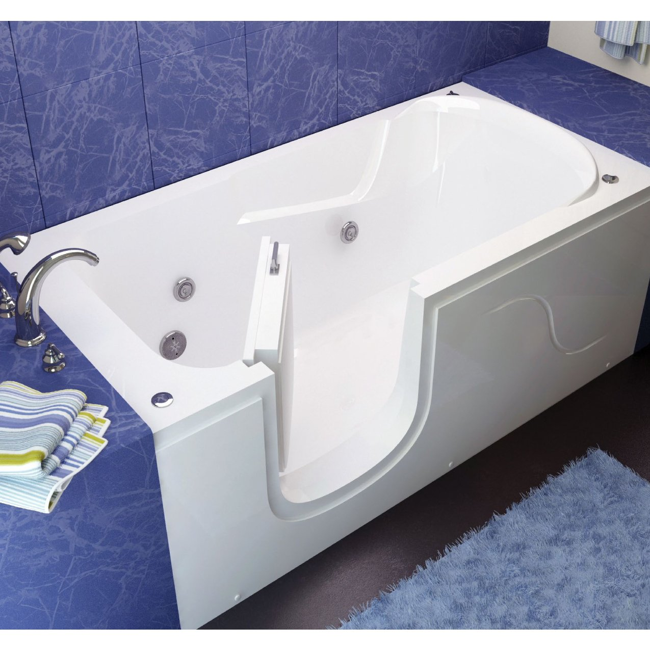 meditub 3060si series step in 30 x 60 acrylic fiberglass walk in bathtub - Step In Bathtub
