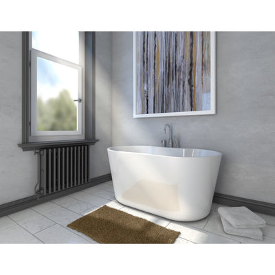 "A & E Bath and Shower Retro Acrylic Small 56"" Premium All-in-One Freestanding Oval Tub Package"