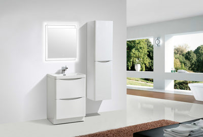 "Moreno Bath Smile 24"" Free Standing Vanity with Reinforced Acrylic Sink"