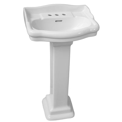 Barclay Stanford 460 Pedestal Lavatory Bathroom Sink 4 inch faucet