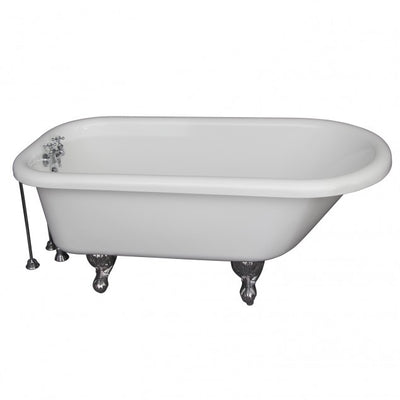 Barclay TKADTR60-WCP7 Anthea 60″ Acrylic Roll Top Tub Kit in White – Polished Chrome Accessories
