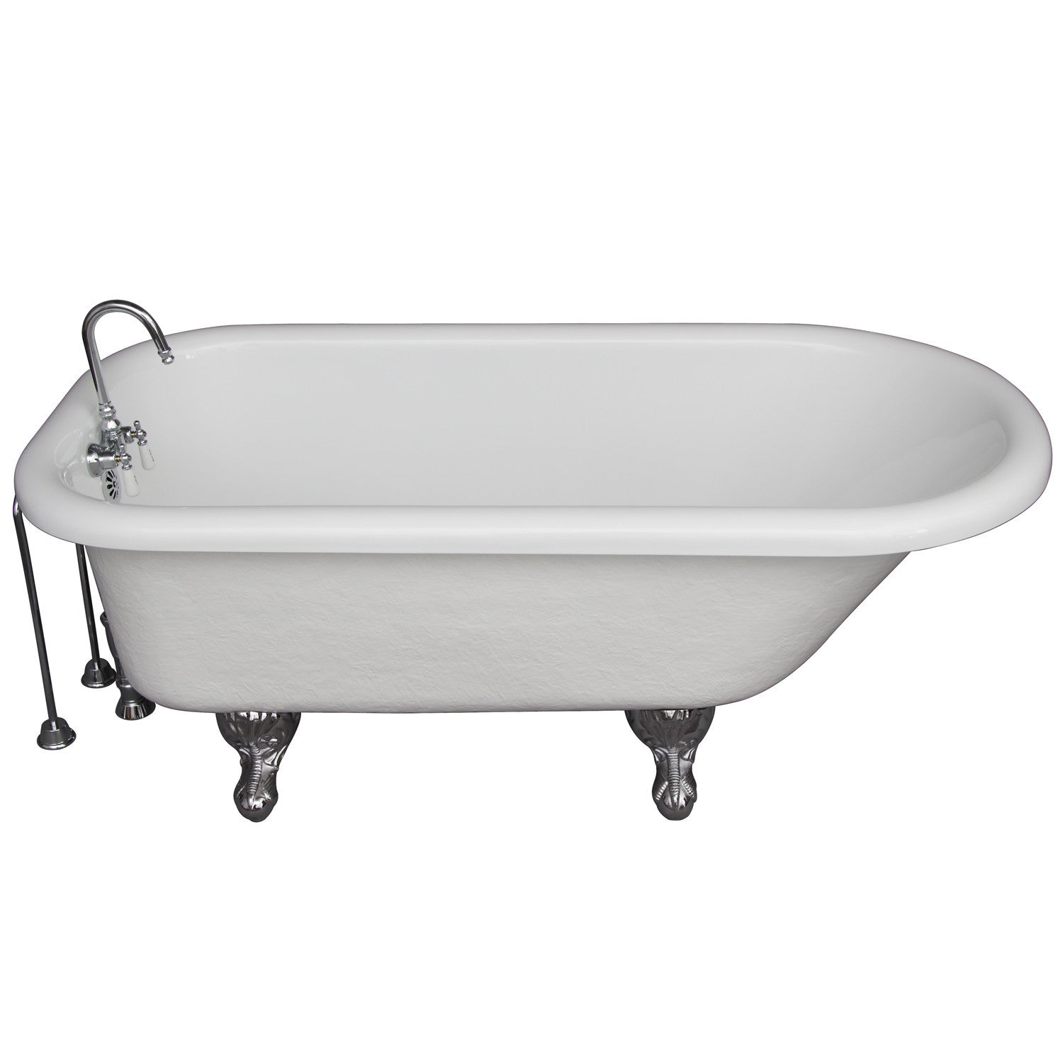 Barclay TKATR60-WCP9 Andover 60″ Acrylic Roll Top Tub Kit in White ...