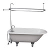 Barclay TKCTR67-CP1 Brocton 68″ Cast Iron Roll Top Tub Kit – Polished Chrome Accessories in White Background
