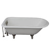 Barclay TKCTR67-SN2 Brocton 68″ Cast Iron Roll Top Tub Kit –Brushed Nickel Accessories in White Background