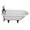 Barclay TKCTR7H60-ORB1 Beecher 60″ Cast Iron Roll Top Tub Kit – Oil Rubbed Bronze Accessories in White Background