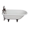 Barclay TKCTR7H60-ORB2 Beecher 60″ Cast Iron Roll Top Tub Kit – Oil Rubbed Bronze Accessories in White Background