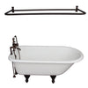 Barclay TKCTR7H60-ORB5 Beecher 60″ Cast Iron Roll Top Tub Kit – Oil Rubbed Bronze Accessories in White Background