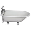 Barclay TKCTR7H67-CP1 Cadmus 68″ Cast Iron Roll Top Tub Kit – Polished Chrome Accessories in White Background