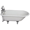 Barclay TKCTR7H67-CP2 Cadmus 68″ Cast Iron Roll Top Tub Kit – Polished Chrome Accessories in White Background
