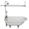 Barclay TKCTR7H67-SN3 Cadmus 68″ Cast Iron Roll Top Tub Kit – Brushed Nickel Accessories in White Background