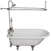 Barclay TKCTR7H67-SN4 Cadmus 68″ Cast Iron Roll Top Tub Kit – Brushed Nickel Accessories in White Background