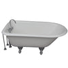 Barclay TKCTRH54-CP10 Antonio 55″ Cast Iron Roll Top Tub Kit – Polished Chrome Accessories in White Background