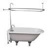 Barclay TKCTRH54-CP1 Antonio 55″ Cast Iron Roll Top Tub Kit – Polished Chrome Accessories in White Background