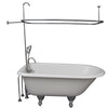 Barclay TKCTRH54-CP2 Antonio 55″ Cast Iron Roll Top Tub Kit – Polished Chrome Accessories in White Background