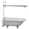 Barclay TKCTRH54-CP4 Antonio 55″ Cast Iron Roll Top Tub Kit – Polished Chrome Accessories in White Background