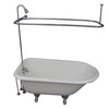 Barclay TKCTRH54-CP5 Antonio 55″ Cast Iron Roll Top Tub Kit – Polished Chrome Accessories in White Background