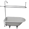 Barclay TKCTRH54-CP6 Antonio 55″ Cast Iron Roll Top Tub Kit – Polished Chrome Accessories in White Background