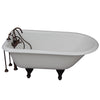 Barclay TKCTRH54-ORB1 Antonio 55″ Cast Iron Roll Top Tub Kit – OIl Rubbed Bronze Accessories in White Background