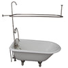 Barclay TKCTRH54-SN1 Antonio 55″ Cast Iron Roll Top Tub Kit – Brushed Nickel Accessories in White Background