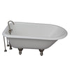 Barclay TKCTRH54-SN3 Antonio 55″ Cast Iron Roll Top Tub Kit – Brushed Nickel Accessories in White Background