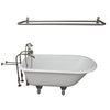 Barclay Antonio 55″ Cast Iron Roll Top Tub Kit