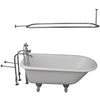 Barclay Bartlett 60″ Cast Iron Roll Top Tub Kit Polished Brass in White Background