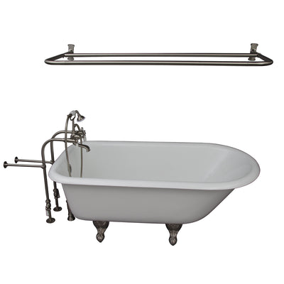 Barclay Bartlett 60″ Cast Iron Roll Top Tub Kit