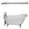 Barclay Griffin 61″ Cast Iron Slipper Tub Kit