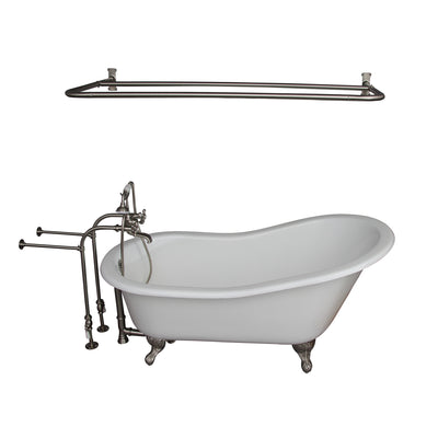 Barclay Icarus 67″ Cast Iron Slipper Tub Kit - No Holes