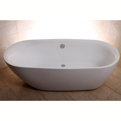 "Kingston Brass Aqua Eden 71"" Contemporary Freestanding Acrylic Bathtub Freestanding Clawfoot Bathtubs Top View in Brown Room"