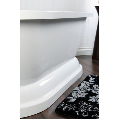 "Kingston Brass Aqua Eden 67"" Contemporary Pedestal Double Ended Acrylic Bath Tub, White - Affordable Cheap Freestanding Clawfoot Bathtubs Tub"