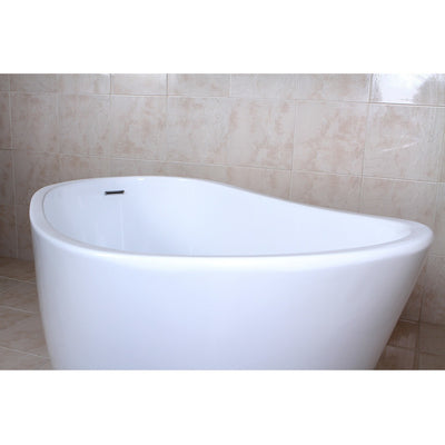 "Kingston Brass Aqua Eden 59"" Contemporary Freestanding Acrylic Bathtub - Affordable Cheap Freestanding Clawfoot Bathtubs Tub"