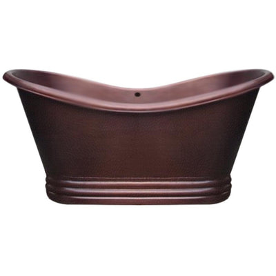 Whitehaus Collection WHCT-1001 Freestanding Copper Tub - Affordable Cheap Freestanding Clawfoot Bathtubs Tub