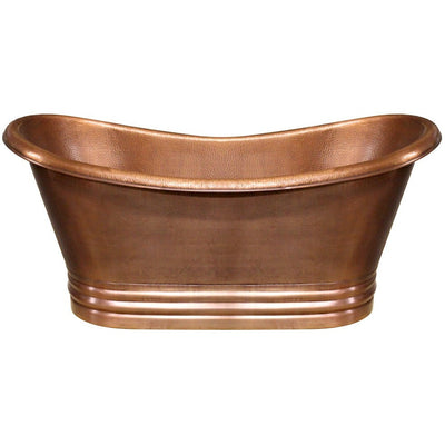 Whitehaus Collection WHCT-1003 Handmade Double Ended Freestanding Copper Bathtub - Affordable Cheap Freestanding Clawfoot Bathtubs Tub