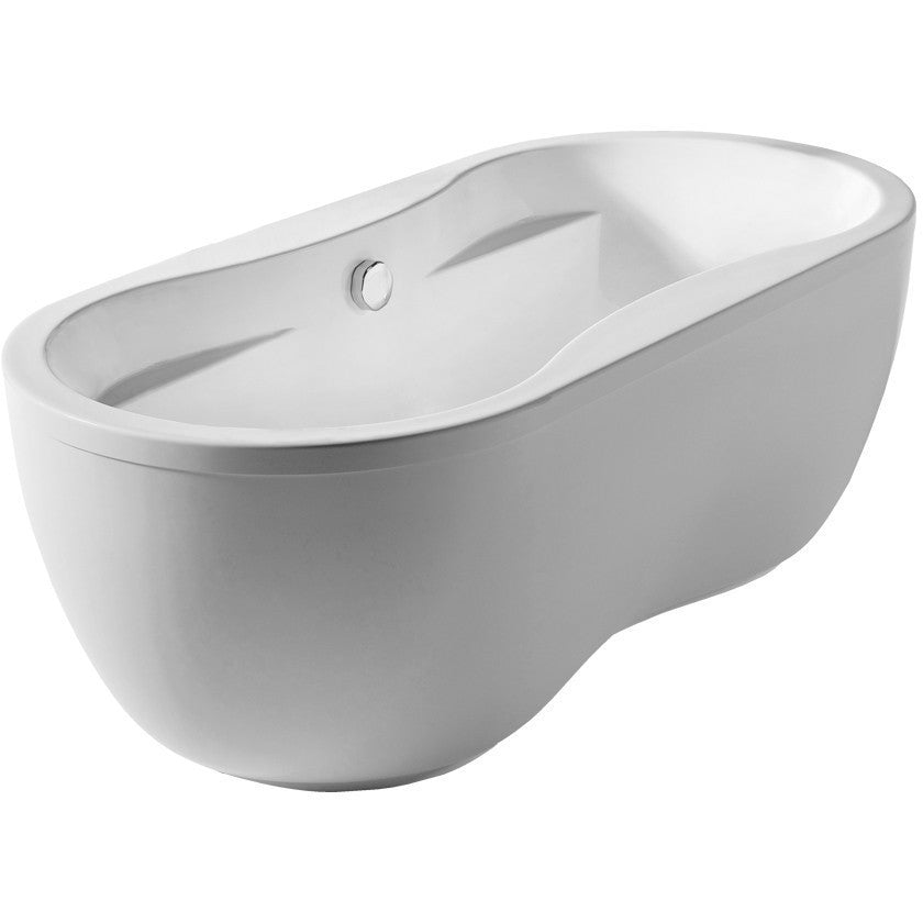Whitehaus Collection WHDB170BATH Oval Double Sided Freestanding ...