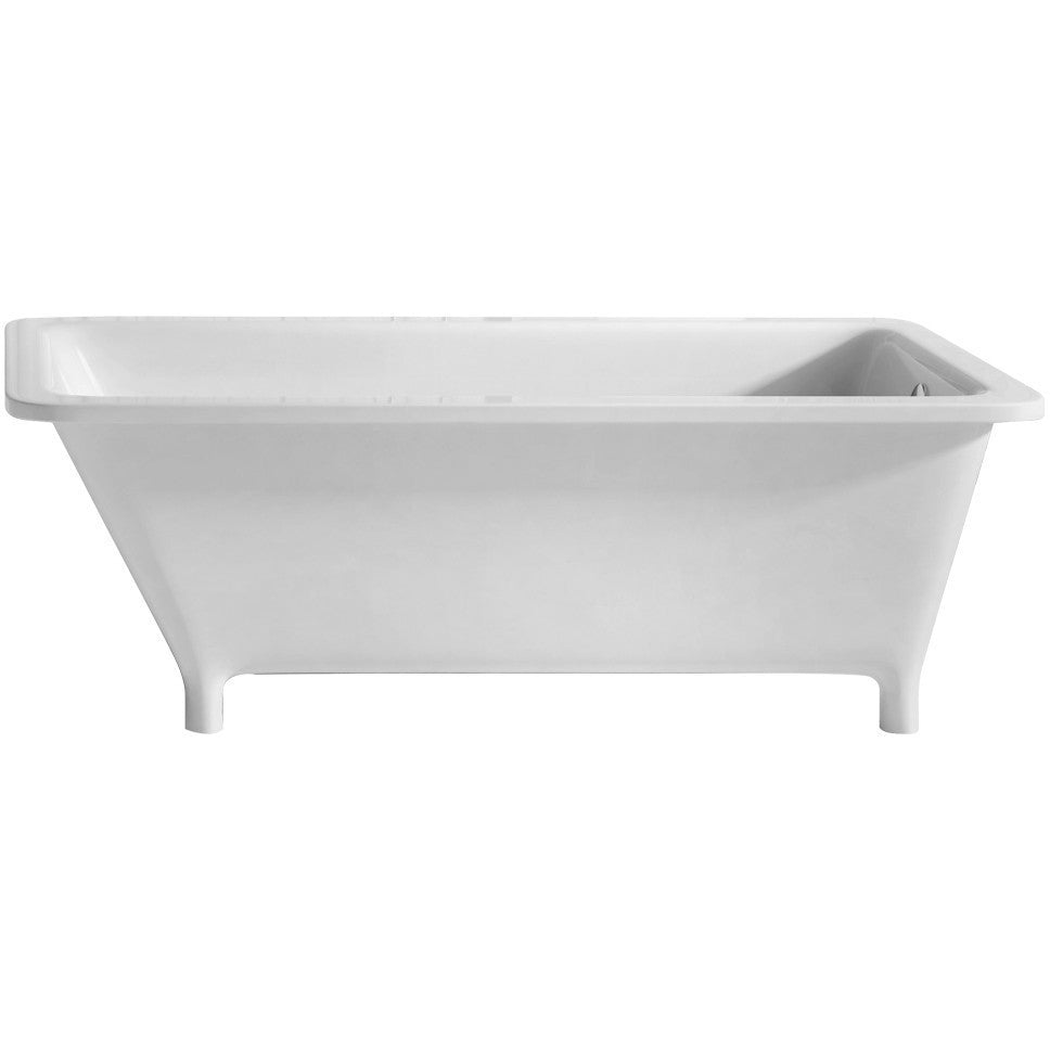 Whitehaus Collection WHSQ170BATH Angled Freestanding Acrylic Soaking Footed  Bathtub   Affordable Cheap Freestanding Clawfoot Bathtubs Tub