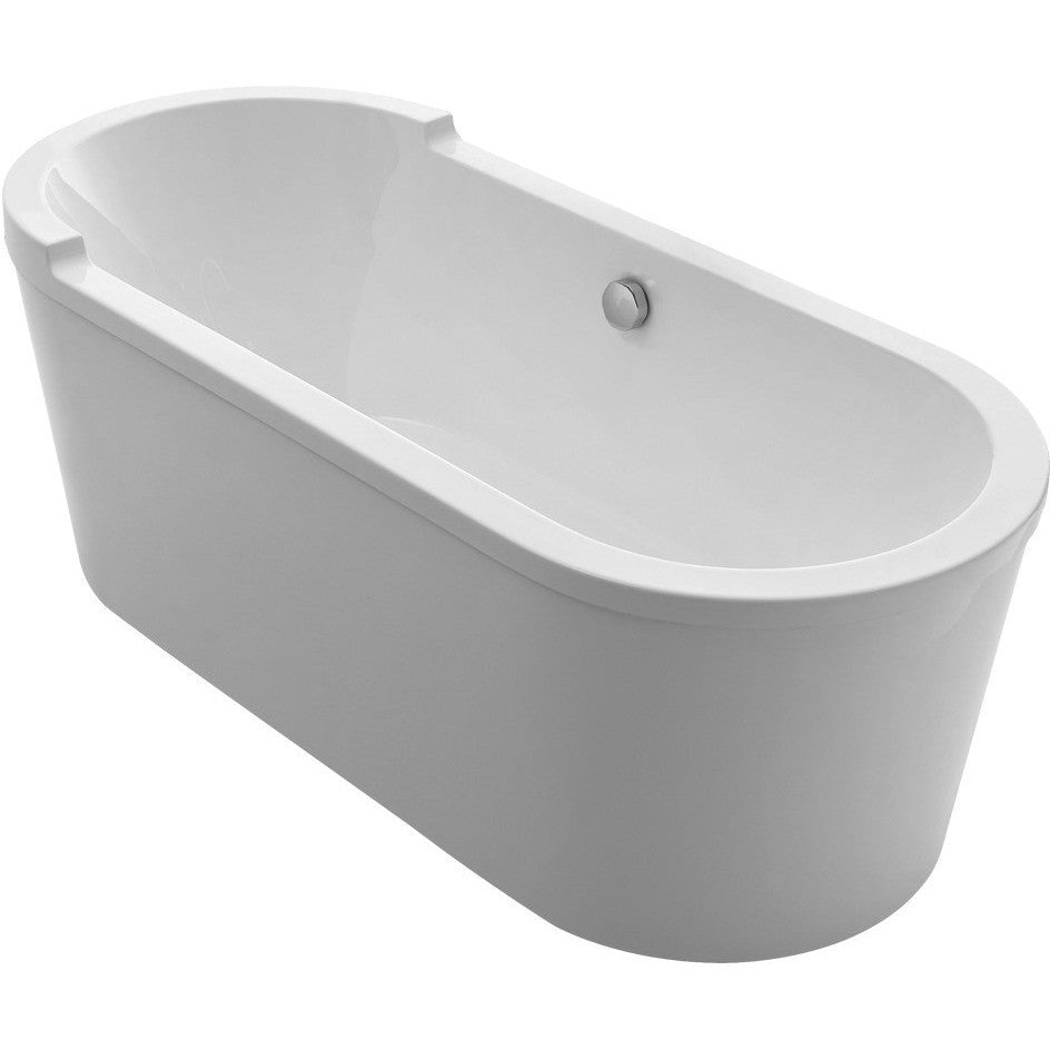Whitehaus Collection WHVT180BATH Oval Freestanding Acrylic Soaking ...