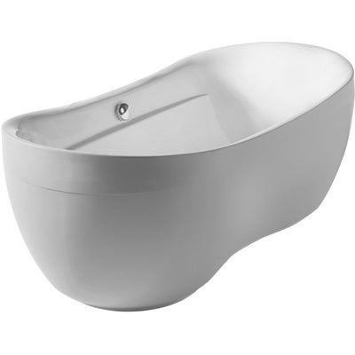 Whitehaus Collection WHYB170BATH Oval Freestanding Acrylic Soaking Bathtub - Affordable Cheap Freestanding Clawfoot Bathtubs Tub