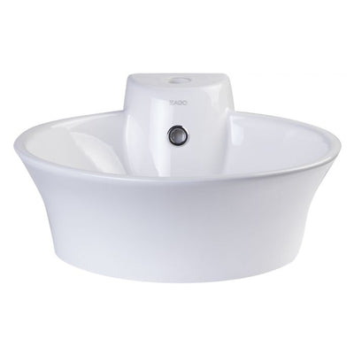 EAGO BA121 Round Ceramic Above Mount Bath Sink With Single Faucet Hole