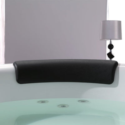 EAGO AM206RD Modern Round Whirlpool with Fixtures Freestanding Bathtubs Seat View in Bathroom