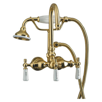 Barclay Products 4022-PL Clawfoot Tub Filler – Diverter Faucet with Code Gooseneck Spout