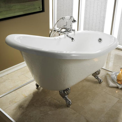 "Barclay Estelle 60"" Premium Acrylic Slipper Freestanding Tub"