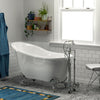 "Barclay Dorchester 55"" Premium Acrylic Slipper Clawfoot Freestanding Tub"