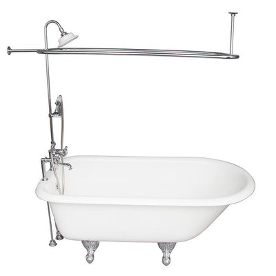 Barclay TKCTR7H60-CP4 Beecher 60″ Cast Iron Roll Top Tub Kit – Polished Chrome Accessories