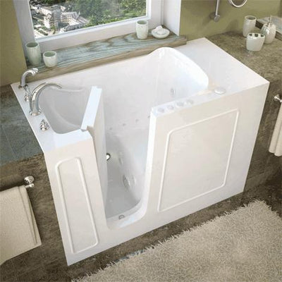 MediTub 2653 Series 26 x 53 Gelcoat Fiberglass Walk-In Bathtub
