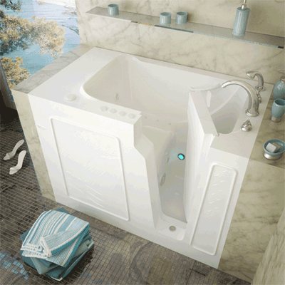 MediTub 2952 Series 29 x 52 Gelcoat Fiberglass Walk-In Bathtub