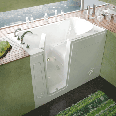 MediTub 3054 Series 30 x 54 Acrylic Fiberglass Walk-In Bathtub