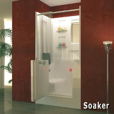 MediTub 3140 Series 31 x 40 Acrylic Fiberglass Walk-In Bathtub
