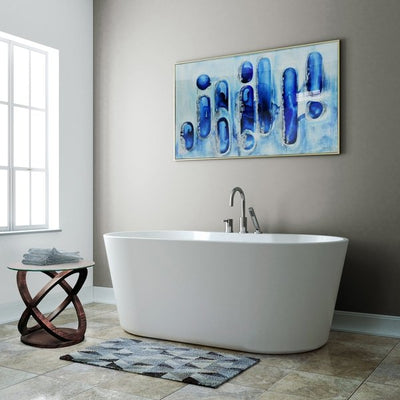 "A&E Bath and Shower Sorel 62"" Freestanding Tub in Bathroom"